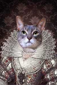 The Pearl Princess Custom Pet Portrait Digital Download - Noble Pawtrait