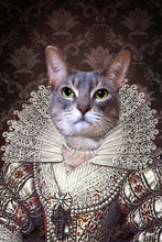 Load image into Gallery viewer, The Pearl Princess Custom Pet Portrait - Noble Pawtrait