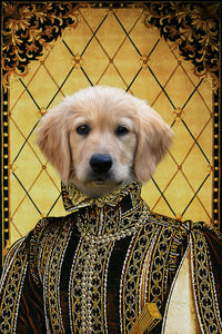 The Persia Prince Custom Pet Portrait Digital Download - Noble Pawtrait