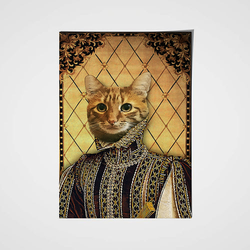 The Persia Prince Custom Pet Portrait Poster - Noble Pawtrait