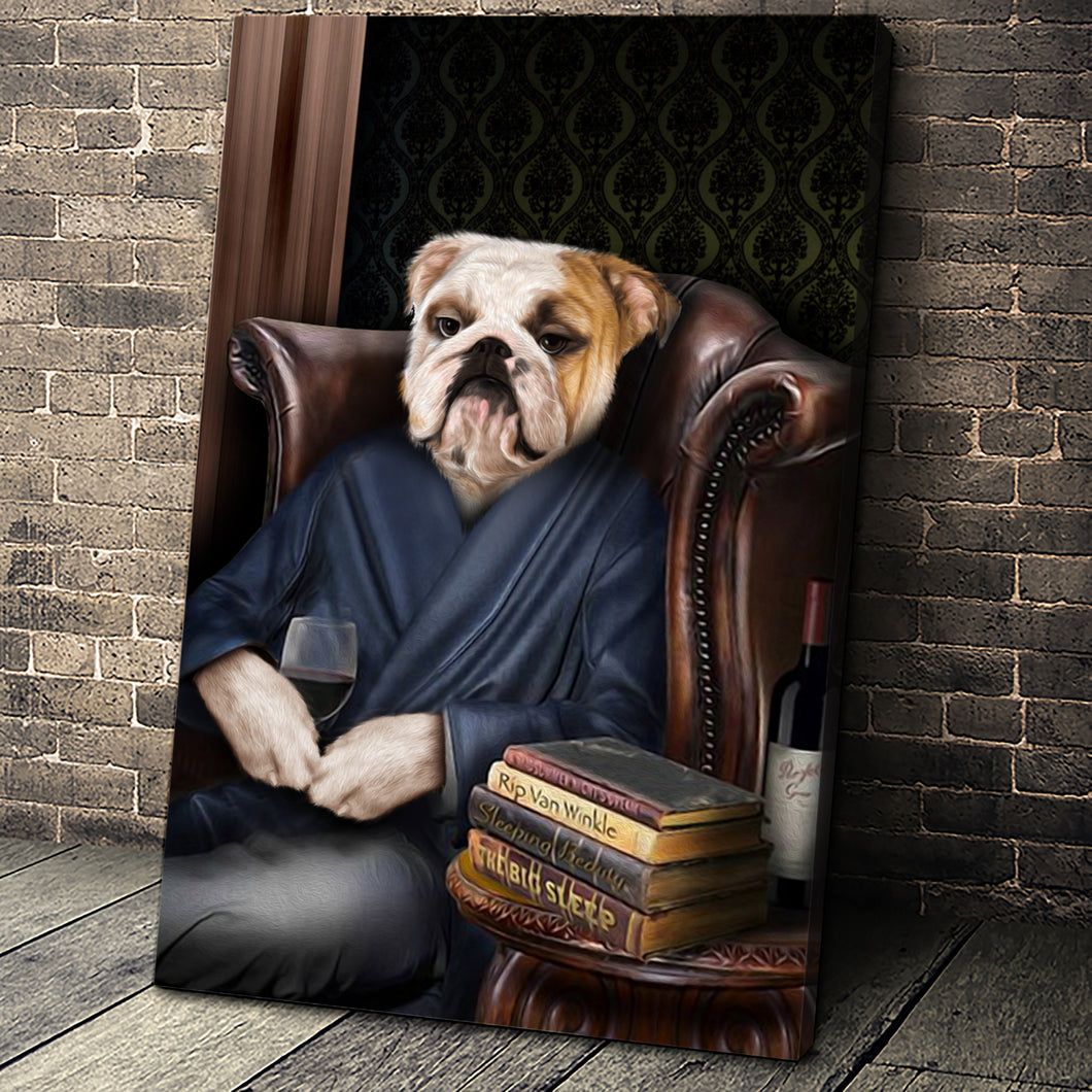 The Philosopher Custom Pet Portrait Canvas - Noble Pawtrait