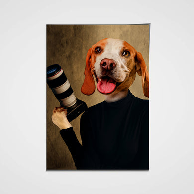 The Photographer Custom Pet Portrait Poster - Noble Pawtrait