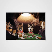 Load image into Gallery viewer, The Poker Players Custom Pet Portrait Poster - Noble Pawtrait