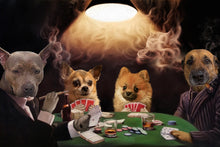Load image into Gallery viewer, The Poker Players Custom Pet Portrait - Noble Pawtrait