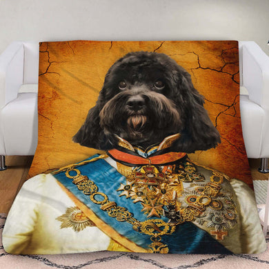 The Prince Custom Pet Blanket - Noble Pawtrait