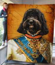 Load image into Gallery viewer, The Prince Custom Pet Blanket - Noble Pawtrait