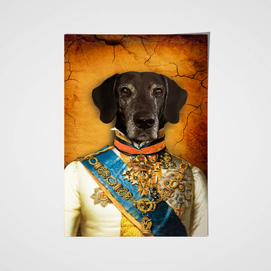 The Prince Custom Pet Portrait Poster - Noble Pawtrait