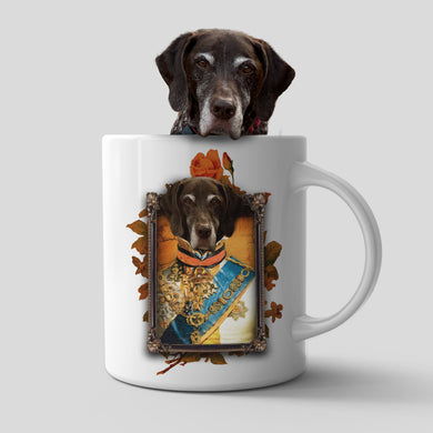 The Prince Custom Pet Mug - Noble Pawtrait