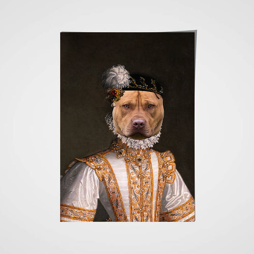 The Princess Custom Pet Portrait Poster - Noble Pawtrait