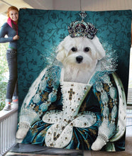 Load image into Gallery viewer, The Queen Custom Pet Blanket - Noble Pawtrait