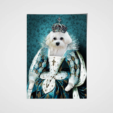 The Queen Custom Pet Portrait Poster - Noble Pawtrait