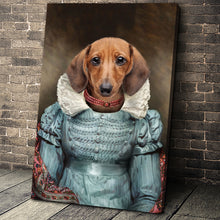 Load image into Gallery viewer, The Red Pearl Lady Custom Pet Portrait Canvas - Noble Pawtrait