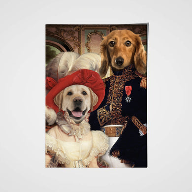 The Royal Couple Custom Pet Portrait Poster - Noble Pawtrait