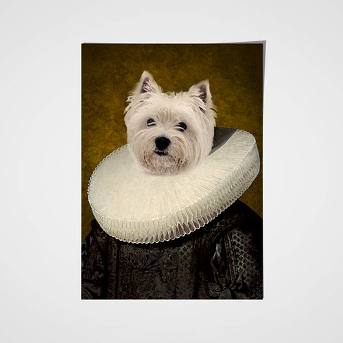 The Ruff Custom Pet Portrait Poster - Noble Pawtrait