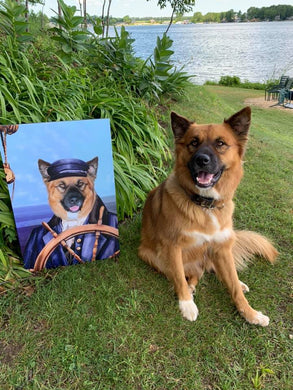 The Sailor Custom Pet Portrait - Noble Pawtrait