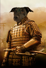 Load image into Gallery viewer, The Samurai Custom Pet Portrait - Noble Pawtrait