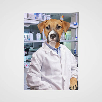 The Scientist Custom Pet Portrait Poster - Noble Pawtrait