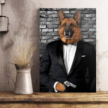 Load image into Gallery viewer, The Secret Agent Custom Pet Portrait Poster - Noble Pawtrait