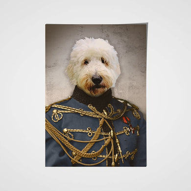 The Sergeant Custom Pet Portrait Poster - Noble Pawtrait