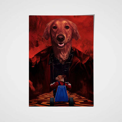 Shining Custom Pet Portrait Poster - Noble Pawtrait