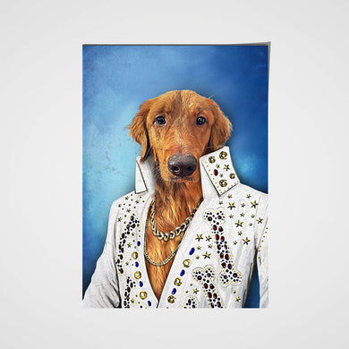 The Singer Custom Pet Portrait Poster - Noble Pawtrait