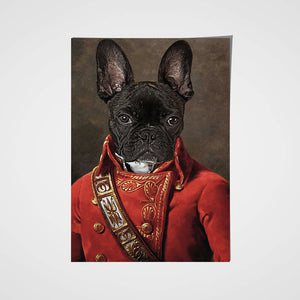 The Soldier Custom Pet Portrait Poster - Noble Pawtrait