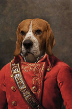 Load image into Gallery viewer, The Soldier Custom Pet Portrait Digital Download - Noble Pawtrait