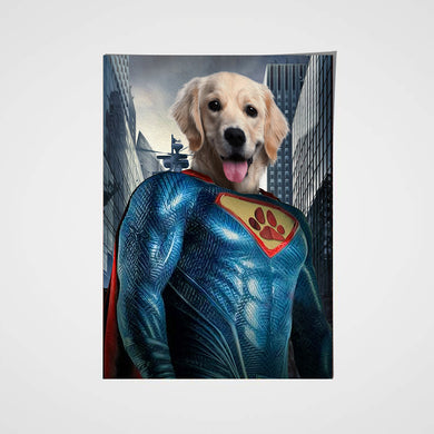 The Super Paw Custom Pet Portrait Poster - Noble Pawtrait