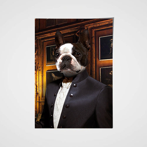The Tailor Custom Pet Portrait Poster - Noble Pawtrait