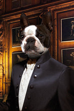 Load image into Gallery viewer, The Tailor Custom Pet Portrait Poster - Noble Pawtrait