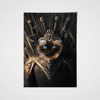 The Throne Custom Pet Portrait Poster - Noble Pawtrait