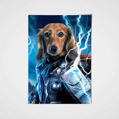 The Thunder Paw Custom Pet Portrait Poster - Noble Pawtrait