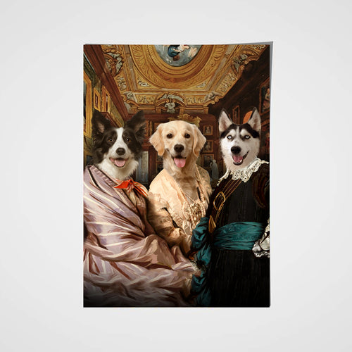The Triplet Custom Pet Portrait Poster - Noble Pawtrait