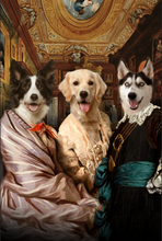 Load image into Gallery viewer, The Triplet Custom Pet Portrait Canvas - Noble Pawtrait