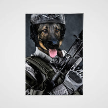 Load image into Gallery viewer, The US Army Custom Pet Portrait Poster - Noble Pawtrait