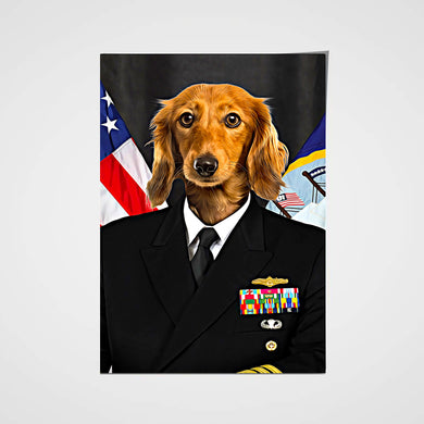 The US Navy Custom Pet Portrait Poster - Noble Pawtrait