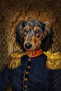 The Veteran Custom Pet Portrait - Noble Pawtrait