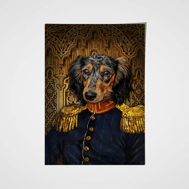 The Veteran Custom Pet Portrait Poster - Noble Pawtrait