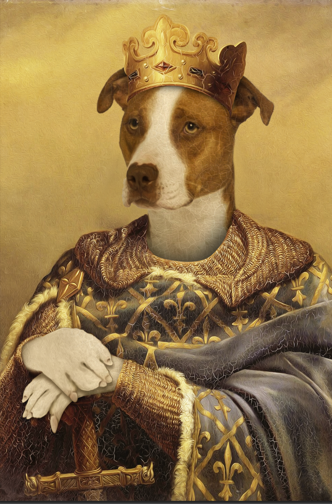 The Noble Warrior Custom Pet Portrait Digital Download - Noble Pawtrait