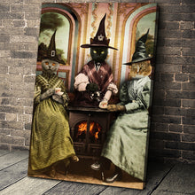 Load image into Gallery viewer, The Witches Custom Pet Portrait Canvas - Noble Pawtrait