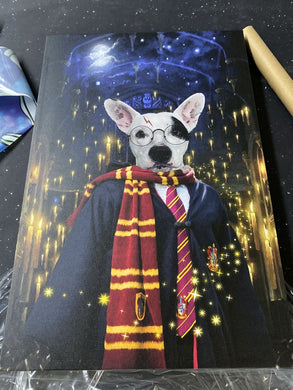 The Wizard Custom Pet Portrait Canvas - Noble Pawtrait