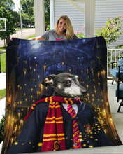 Load image into Gallery viewer, The Wizard Custom Pet Blanket - Noble Pawtrait