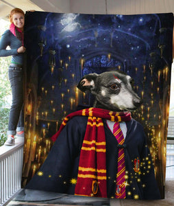 The Wizard Custom Pet Blanket - Noble Pawtrait