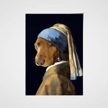 Load image into Gallery viewer, The Woman Custom Pet Portrait Poster - Noble Pawtrait