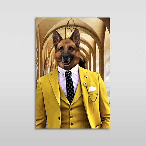The Yellow Suit Custom Pet Portrait Poster - Noble Pawtrait