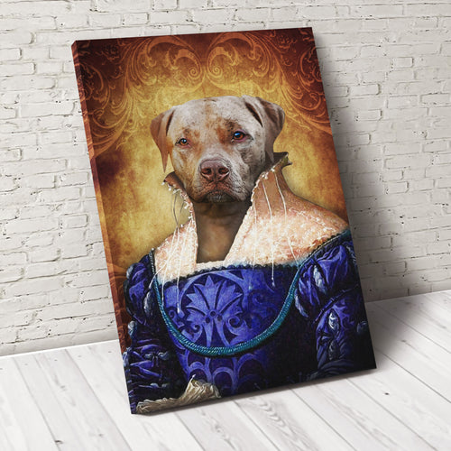 The Ambassadress Custom Pet Portrait Canvas - Noble Pawtrait