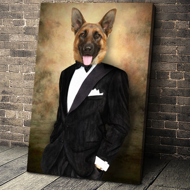 The Big Short Custom Pet Portrait Canvas - Noble Pawtrait
