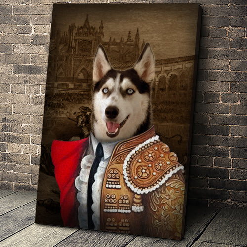 The Bull Fighter Custom Pet Portrait - Noble Pawtrait