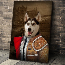 Load image into Gallery viewer, The Bull Fighter Custom Pet Portrait Canvas - Noble Pawtrait