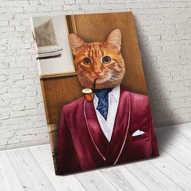 The Business Man Custom Pet Portrait - Noble Pawtrait